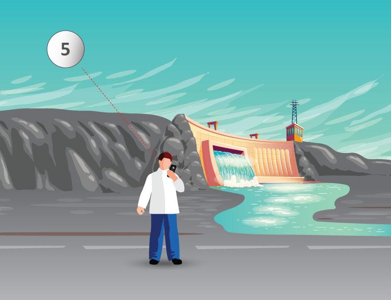 Varovný systém v okolí vodných priehrad
