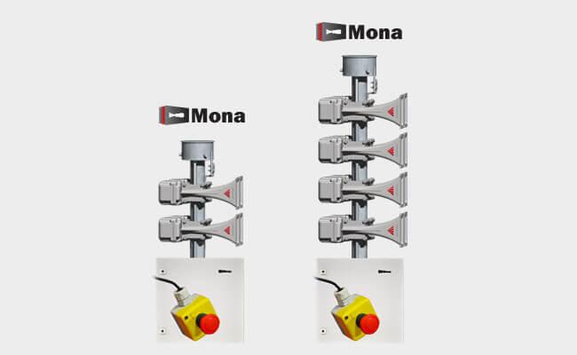 Sirena electronica Mona para los sistemas de alerta